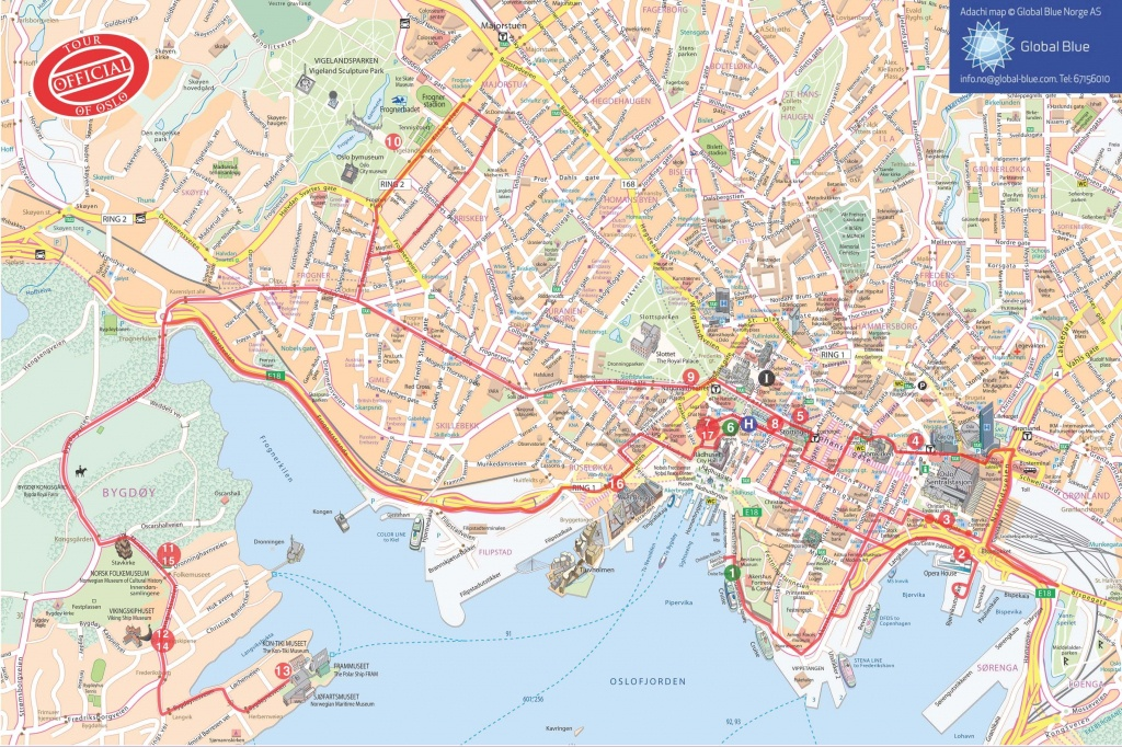 Oslo Map | Tourist Map Of Oslo ©@ | Thai Ambassy | Oslo, Norway Og - Oslo Tourist Map Printable
