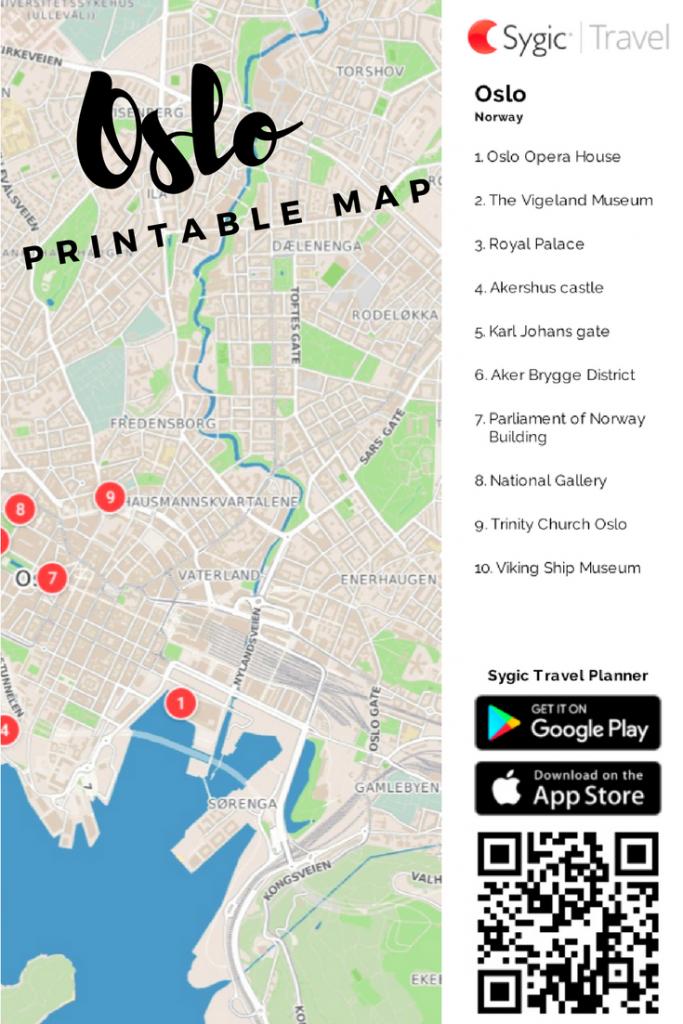 Oslo Printable Tourist Map In 2019   Free Tourist Maps ✈   Tourist - Create Printable Map