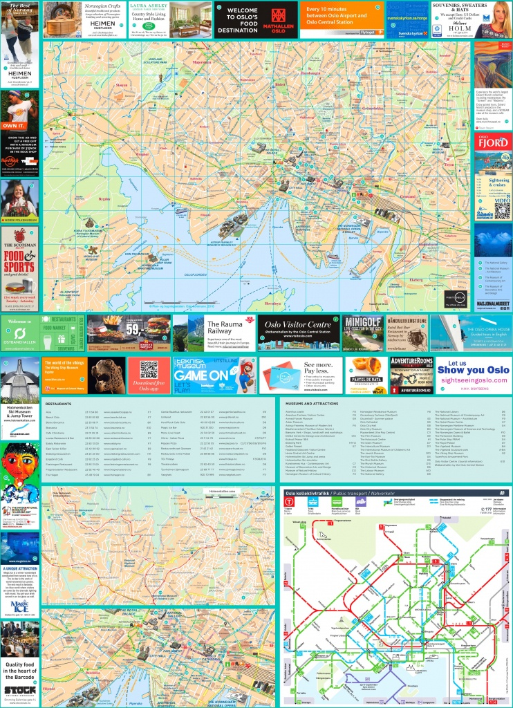 Oslo Tourist Map - Oslo Map Printable