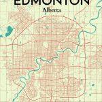 Ourposter 'edmonton City Map' Graphic Art Print Poster In   Printable Map Of Edmonton