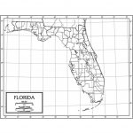 Outline Map Laminated Florida   Uni21231 | Kappa Map Group   Laminated Florida Map