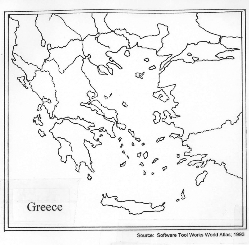 Outline Map Of Ancient Greece And Travel Information | Download Free - Outline Map Of Greece Printable