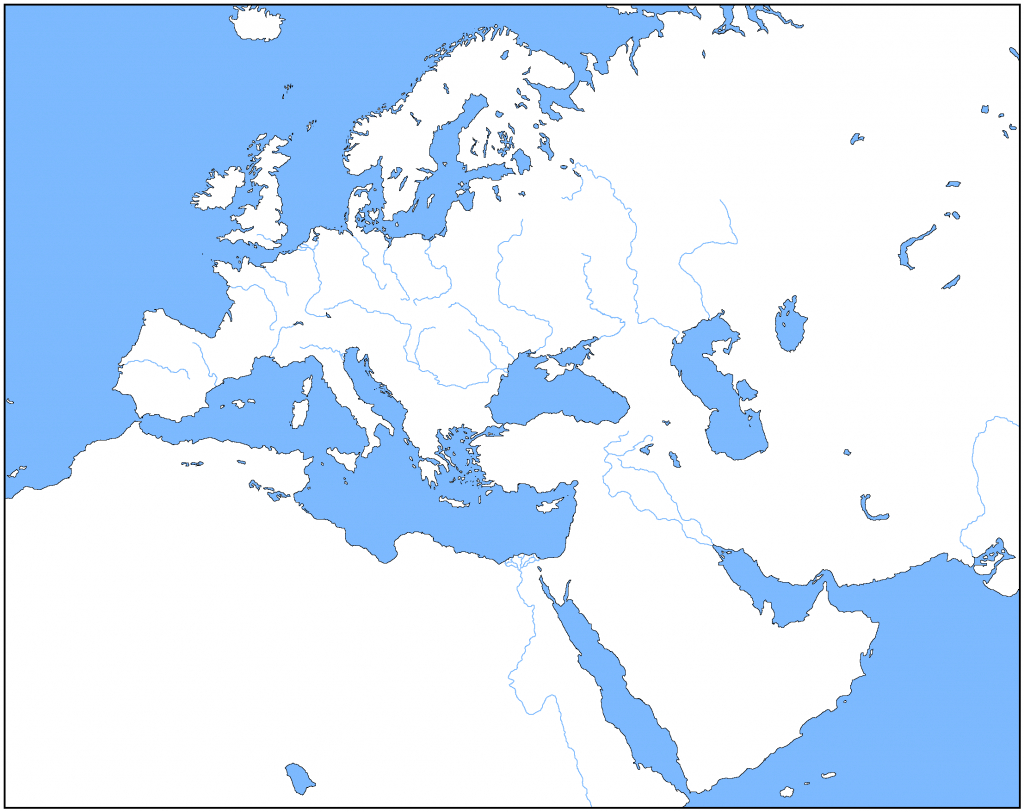 Outline Map Of Europe | Modg 8Th | Middle East Map, Asia Map, Map - Blank Map Of Europe 1914 Printable
