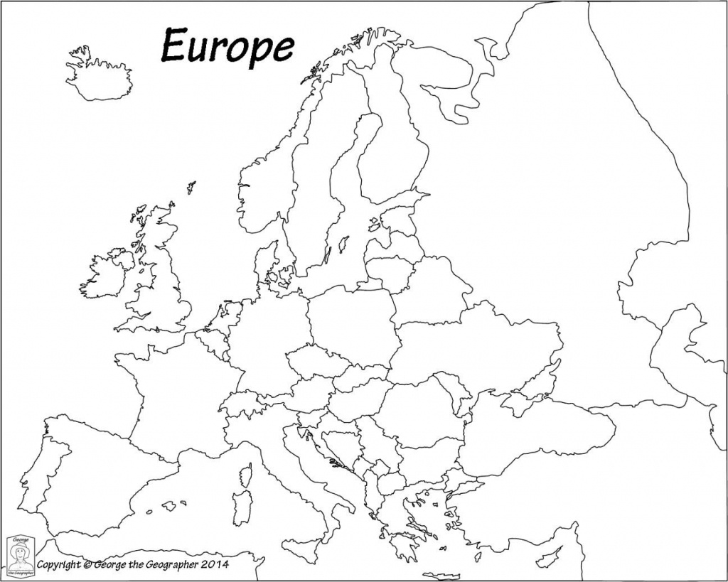 Outline Map Of Europe Political With Free Printable Maps And - Printable Black And White Map Of Europe