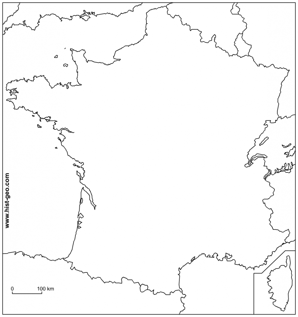 Outline Map Of France With Borders - Printable Outline Maps
