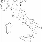 Outline Map Of Italy With Regions Coloring Page | Free Printable   Printable Map Of Italy For Kids