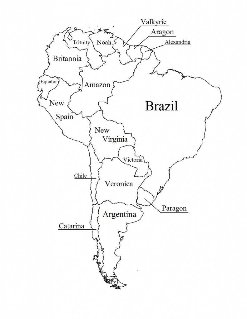 Outline Map Of South America Printable With Blank North And For New - Outline Map Of North America Printable