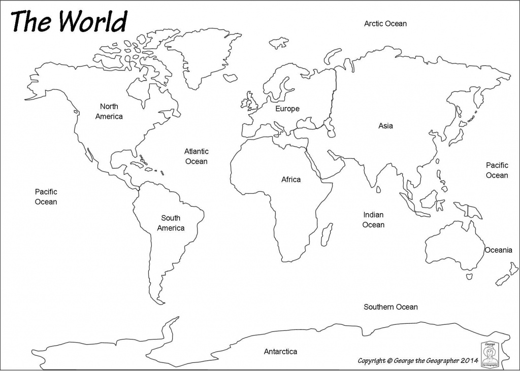 Outline World Map | Map | World Map Continents, Blank World Map - Flat Map Of World Printable