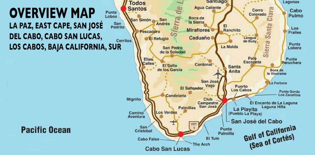 Overview Map Of Southern Baja - Los Cabos Guide - Map Of Baja California Mexico
