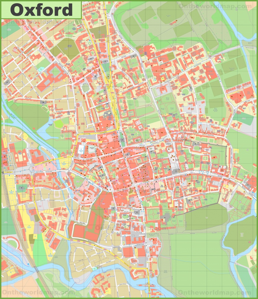 Oxford Maps | Uk | Maps Of Oxford - Oxford Tourist Map Printable