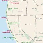 Pacific Coast Highway Driving Distance Map From Moon Pacific Coast - Driving Map Of California With Distances