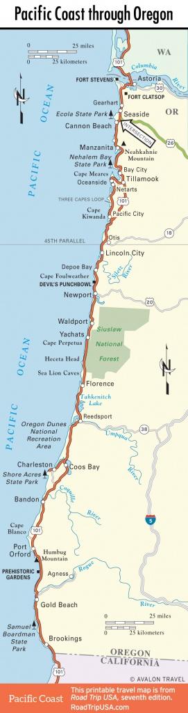 Pacific Coast Route: Oregon | Road Trip Usa - Oregon California Coast Map