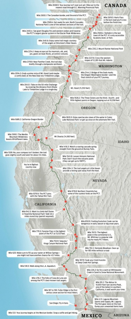 Pacific Crest Trail Map: Hike The Pct | Hikes & Walks | Trail Maps - Backpacking Maps California