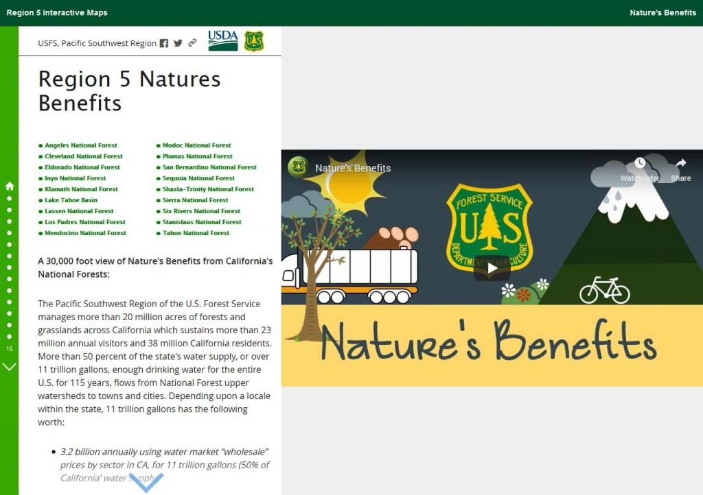 Pacific Southwest Region Online Web Maps - California Forest Service Maps