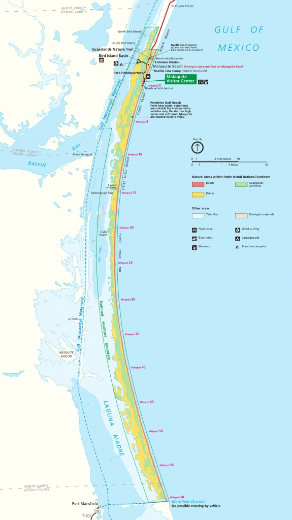Padre Island Maps | Npmaps - Just Free Maps, Period. - Best Texas Beaches Map