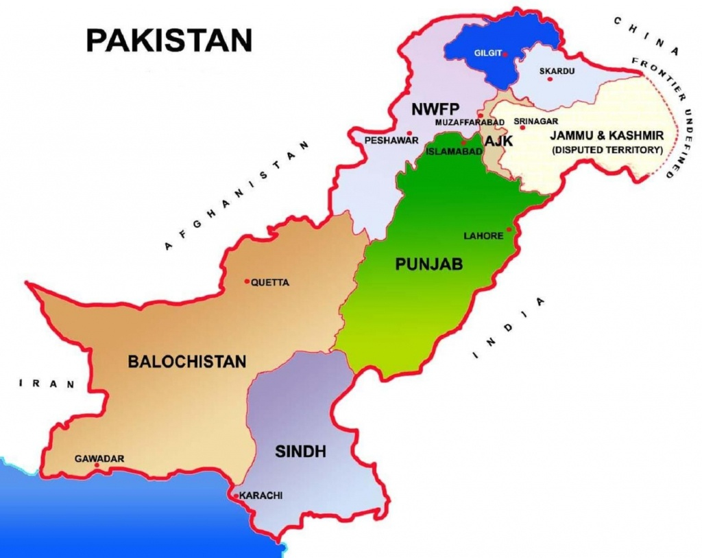 Pakistan Map Showing Provinces And Capital Cities | Pakistan In 2019 - Printable Map Of Pakistan