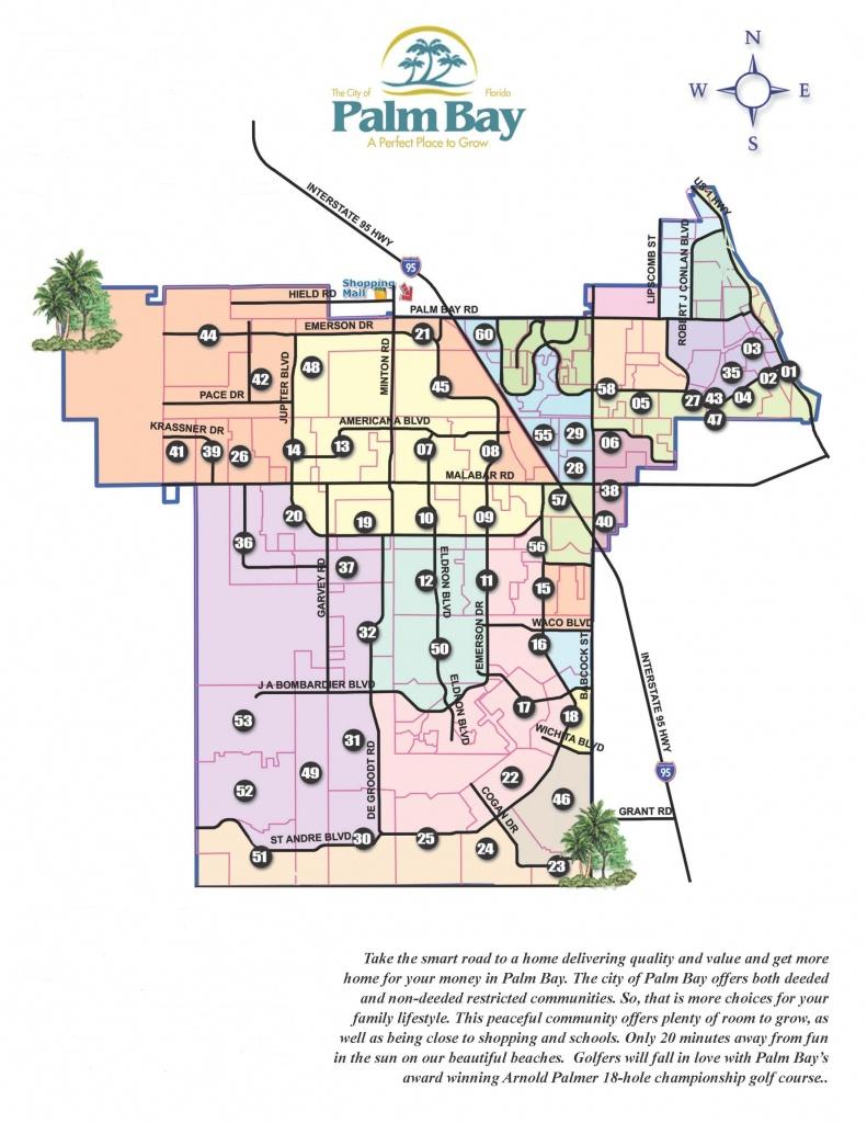 Palm Bay Quick Map - Vera L. Koon - Palm City Florida Map