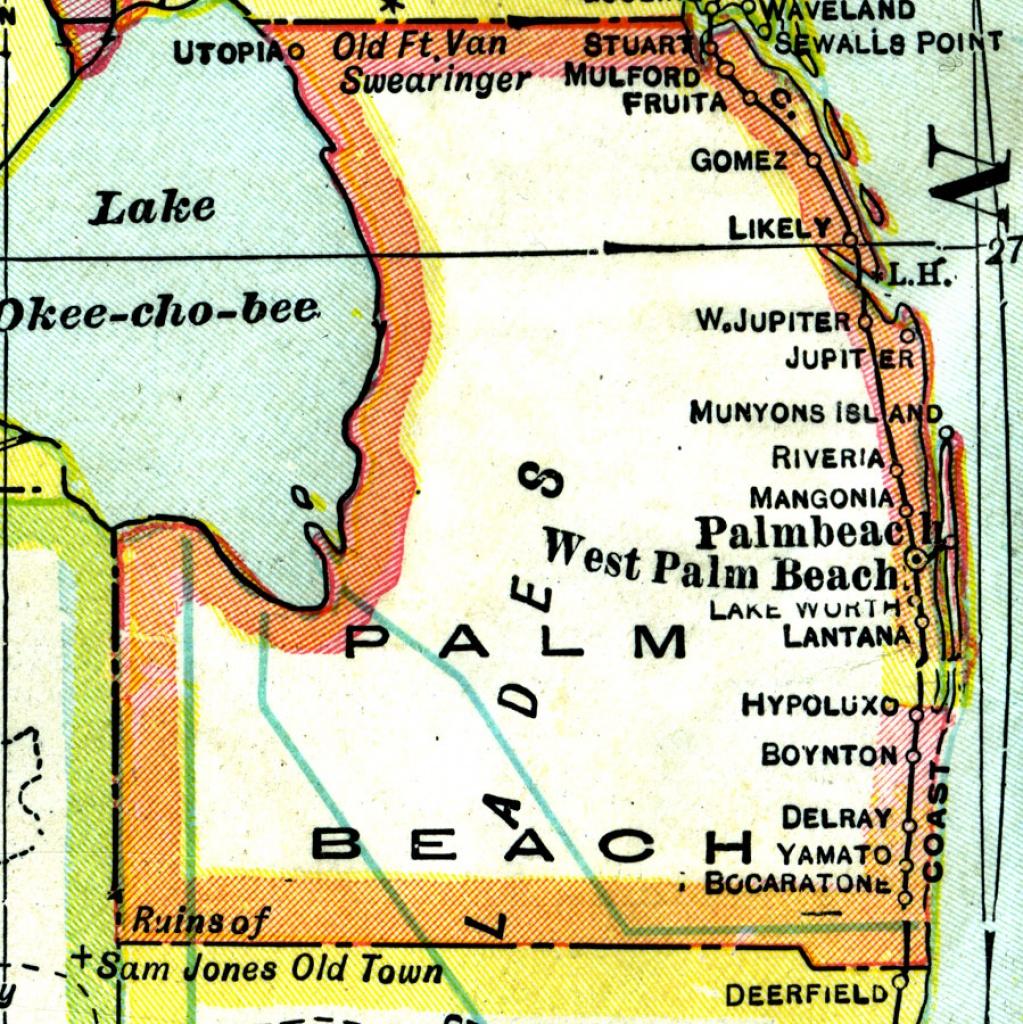 Palm Beach County, 1921 - Palm Beach Florida Map