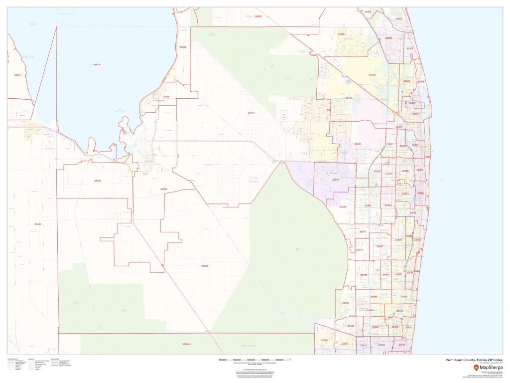 Palm Beach County Zip Code Map - Zip Code Map Of Palm Beach County Florida