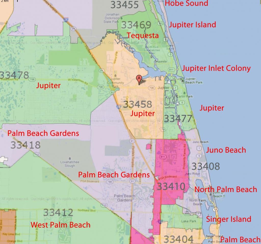 Palm Beach Gardens, Jupiter Florida Real Estatezip Code - Palm Beach Florida Map
