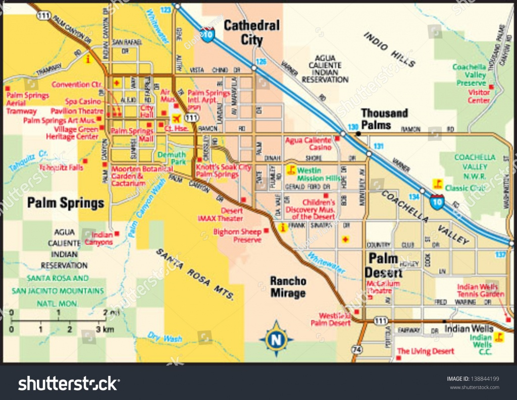 Palm Springs California Area Map Image Vectorielle De Stock (Libre - Map Of Palm Springs California And Surrounding Area