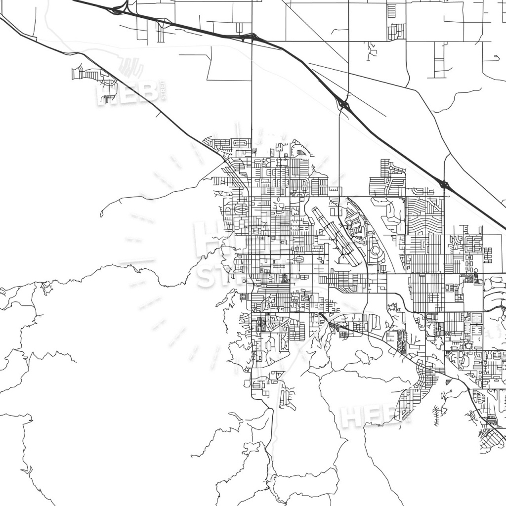 Palm Springs, California - Area Map - Light - Map Of Palm Springs California And Surrounding Area