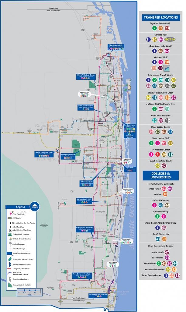 Palm Tran Bus Service - Boca Florida Map
