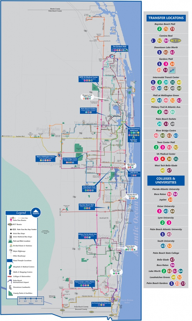 Palm Tran Bus Service - Lantana Florida Map