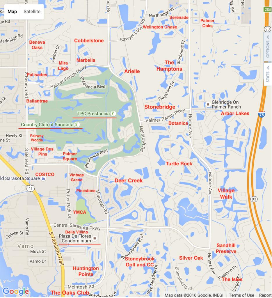 Palmer Ranch Map | Palmer Ranch Neighborhoods - Google Maps Sarasota Florida