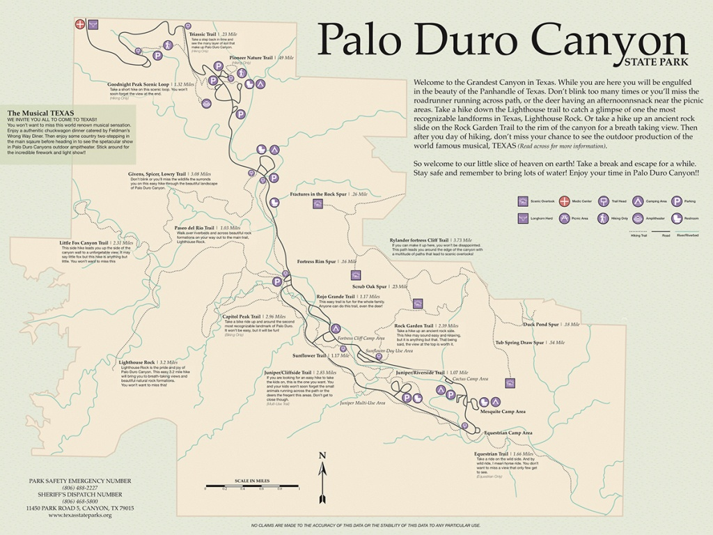 Palo Duro Canyon Map On Behance - Palo Duro Canyon Map Of Texas