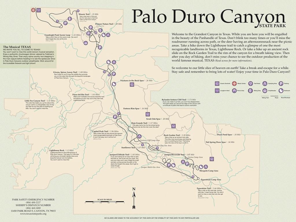 Palo Duro Canyon Map On Behance - Palo Duro Canyon Map Of Texas