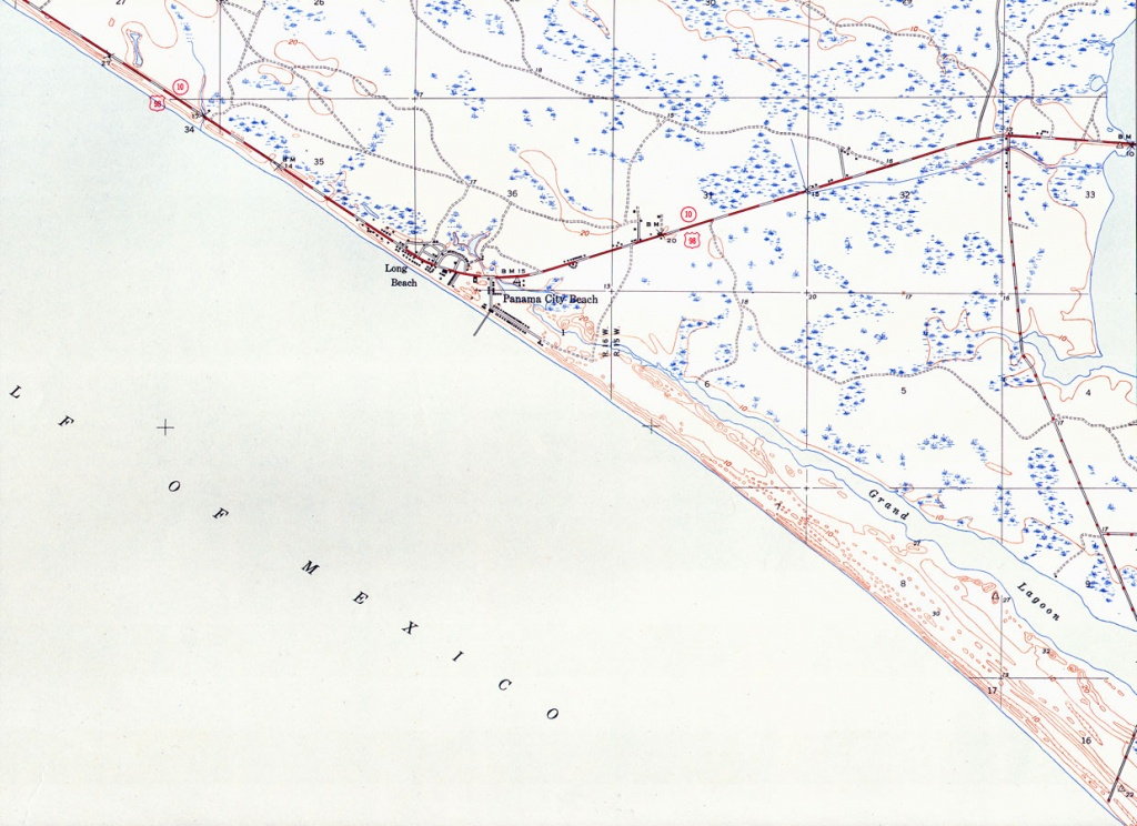 Panama City Beach, Florida, 1943 - Panama Florida Map