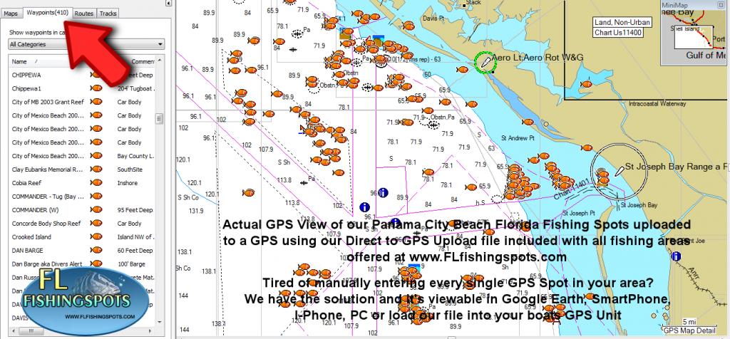 Panama City Florida Fishing Map   Fishing   Panama City Panama - Florida Fishing Map