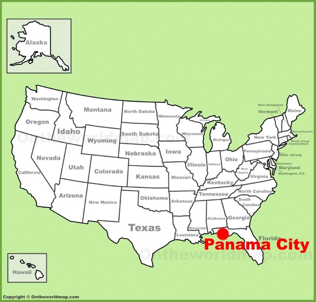 Panama City Location On The U.s. Map - Panama Florida Map