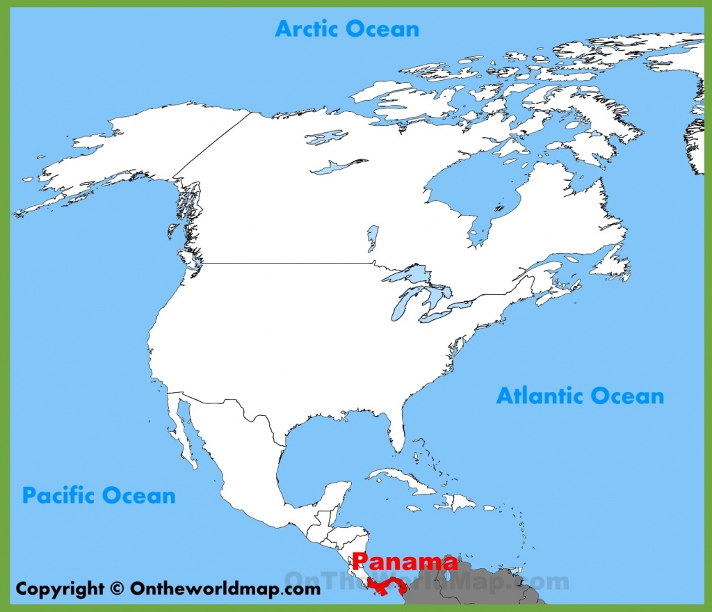 Panama Location On The North America Map - Printable Map Of Panama
