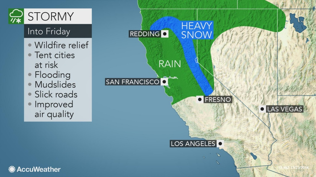 Parade Of Storms To Heighten Mudslide Danger, Douse Wildfires In - California Night Hunting Map