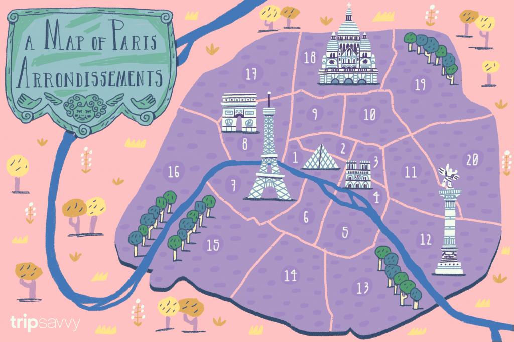 Paris Arrondissements Map And Guide - Printable Map Of Paris Arrondissements