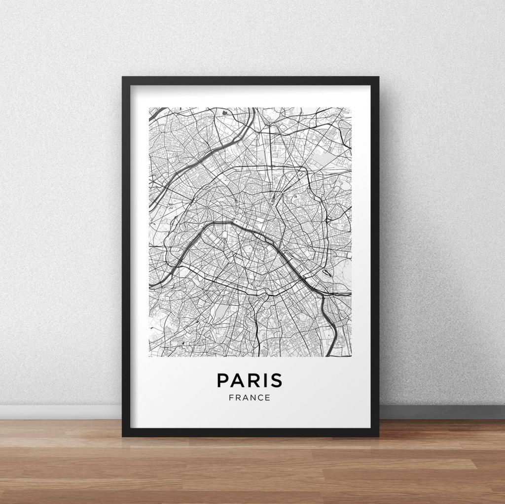 Paris Map Print, Paris Map Download, City Map Paris, Paris Street - Printable City Maps