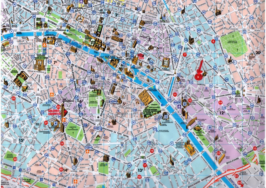 Paris Map Tourist And Travel Information | Download Free Paris Map - Paris Tourist Map Printable