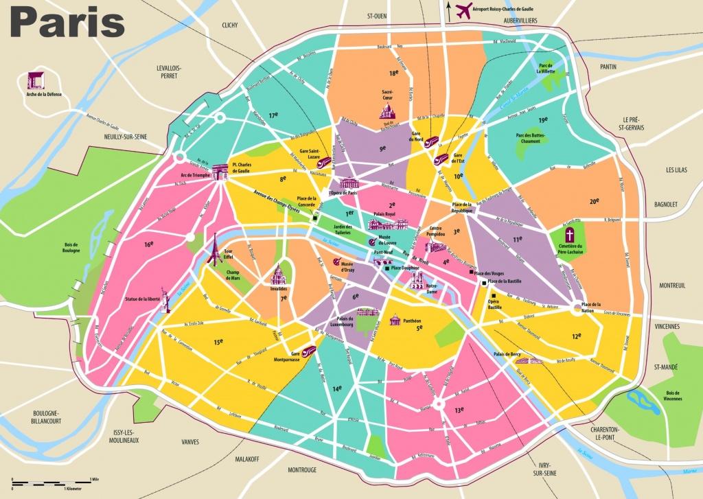 Paris Maps   France   Maps Of Paris - Printable Map Of Paris Arrondissements