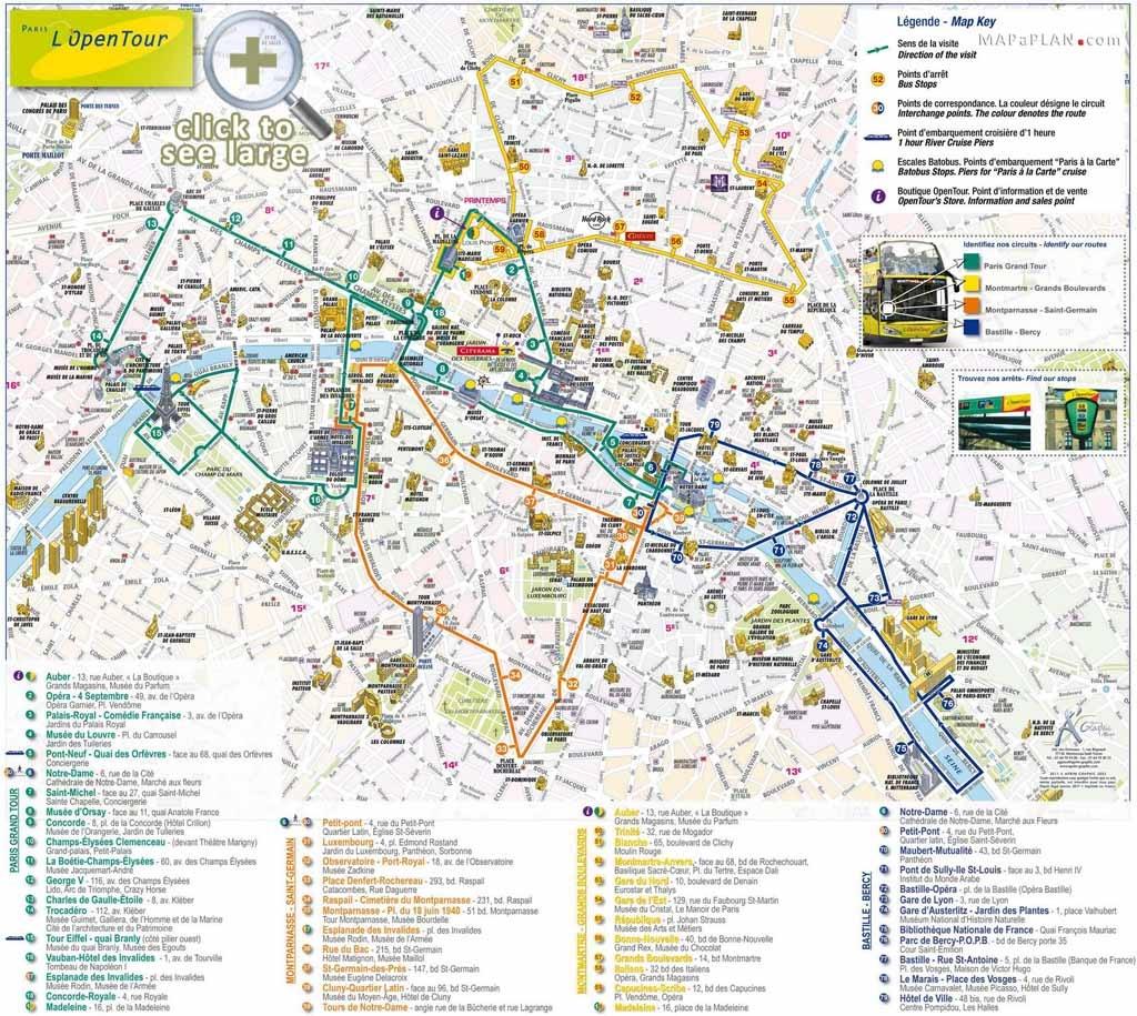 Paris Maps - Top Tourist Attractions - Free, Printable - Mapaplan - Printable Map Of Paris With Tourist Attractions