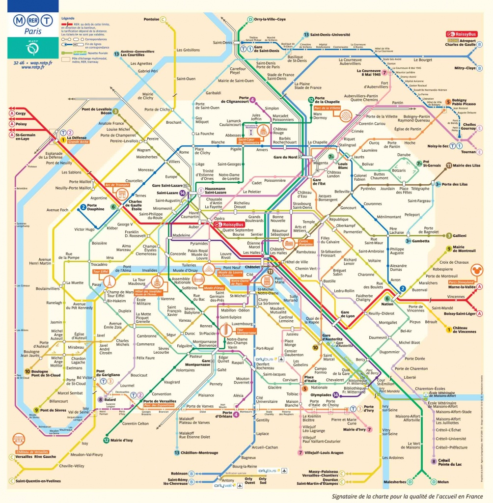 Paris Metro Map – The Paris Pass - Printable Tourist Map Of Paris France