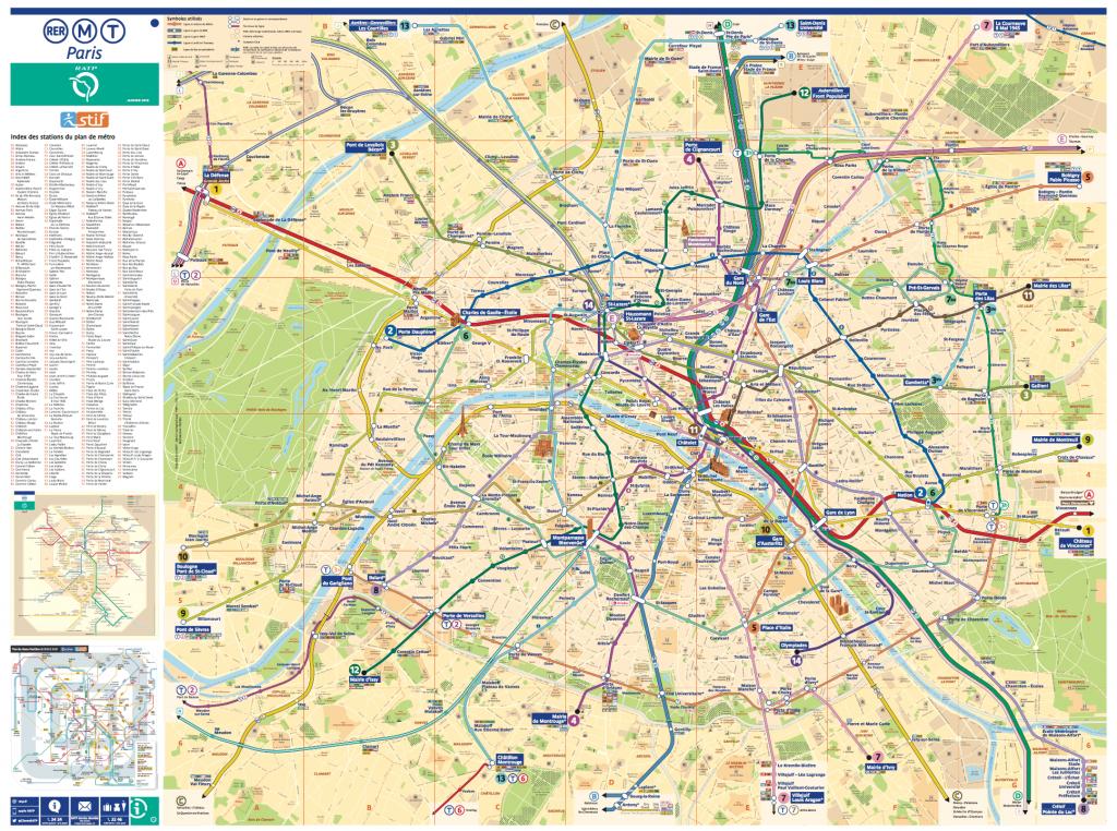 Paris Metro Map – The Redesign — Smashing Magazine - Printable Paris Metro Map