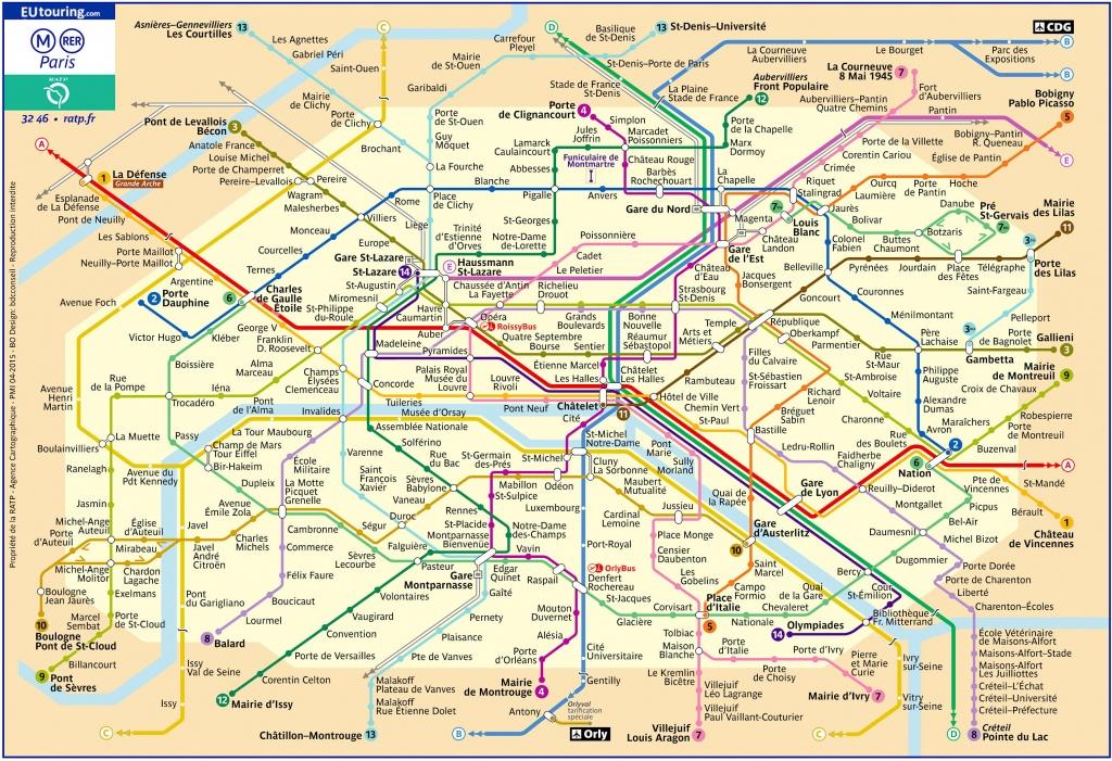 Paris Metro Maps Plus 16 Metro Lines With Stations - Update 2019 - Map Of Paris Metro Printable