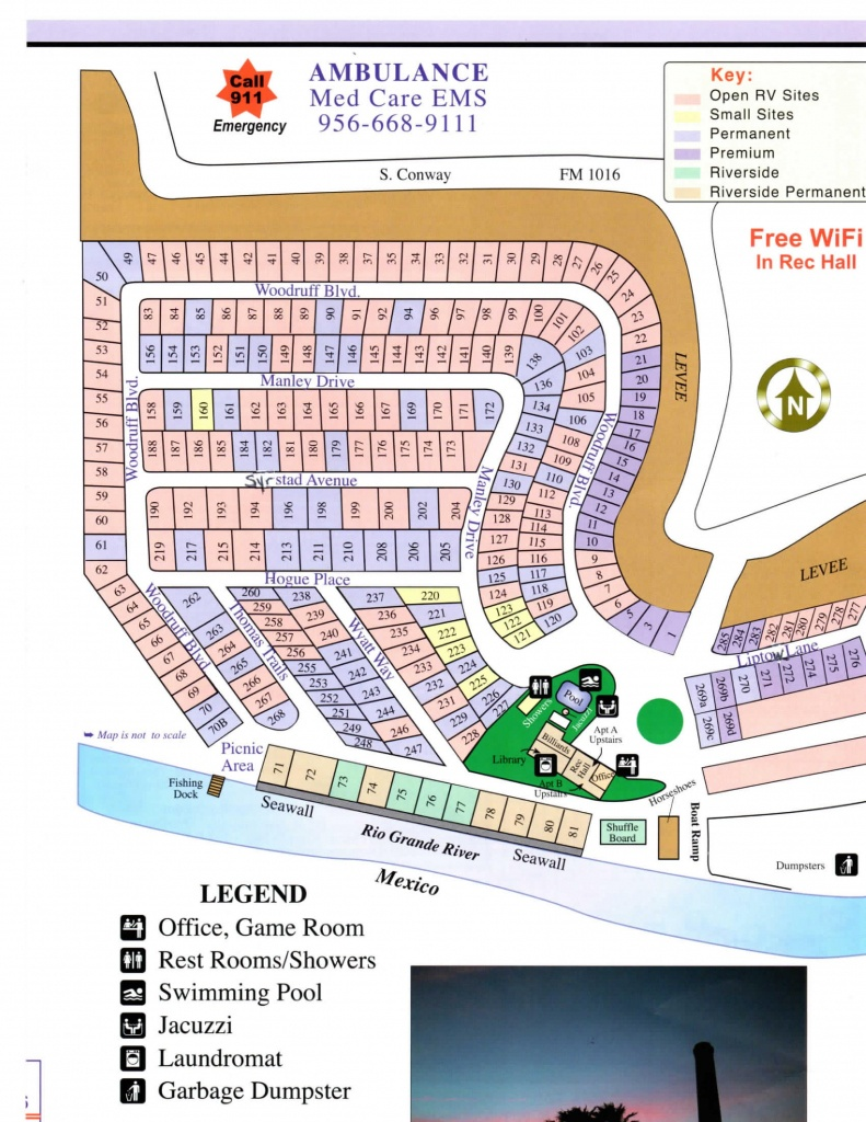 Park Map   Chimney Park Rv Resort On The Rio Grande - Mission Texas - Texas Rv Parks Map