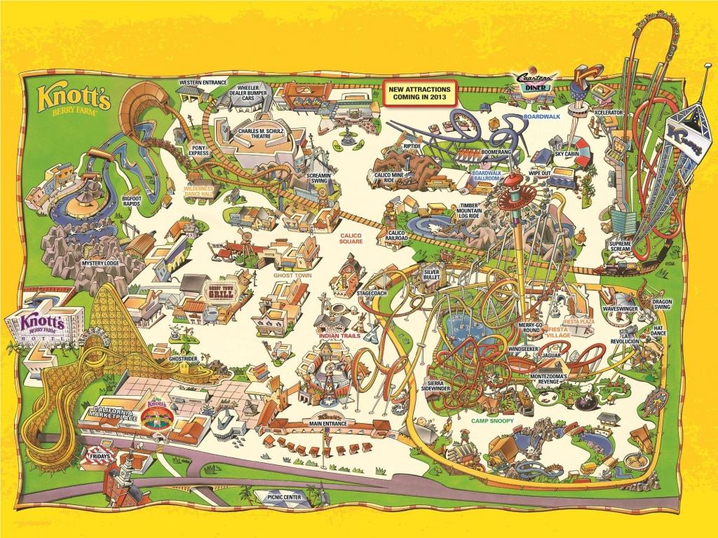 Park Map   Knott's Berry Farm, Buena Park, Ca -- Buy Tickets Online - Knotts Berry Farm Map California
