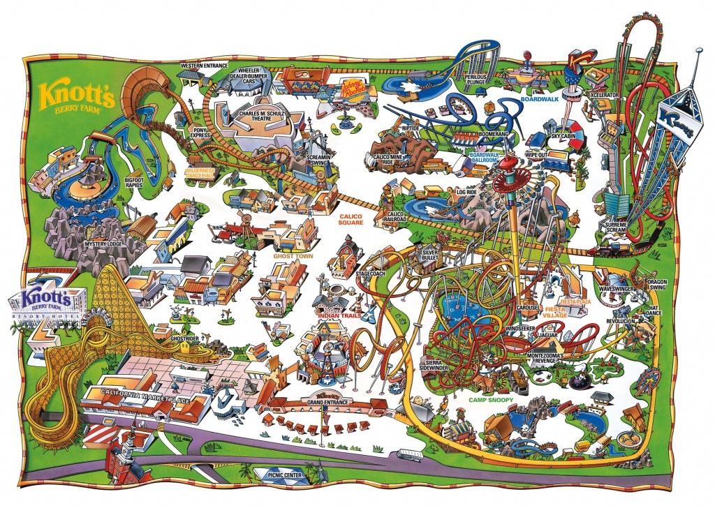 Park Map   Knott's Berry Farm, Buena Park, Ca   Rides In 2019 - Knotts Berry Farm Map California