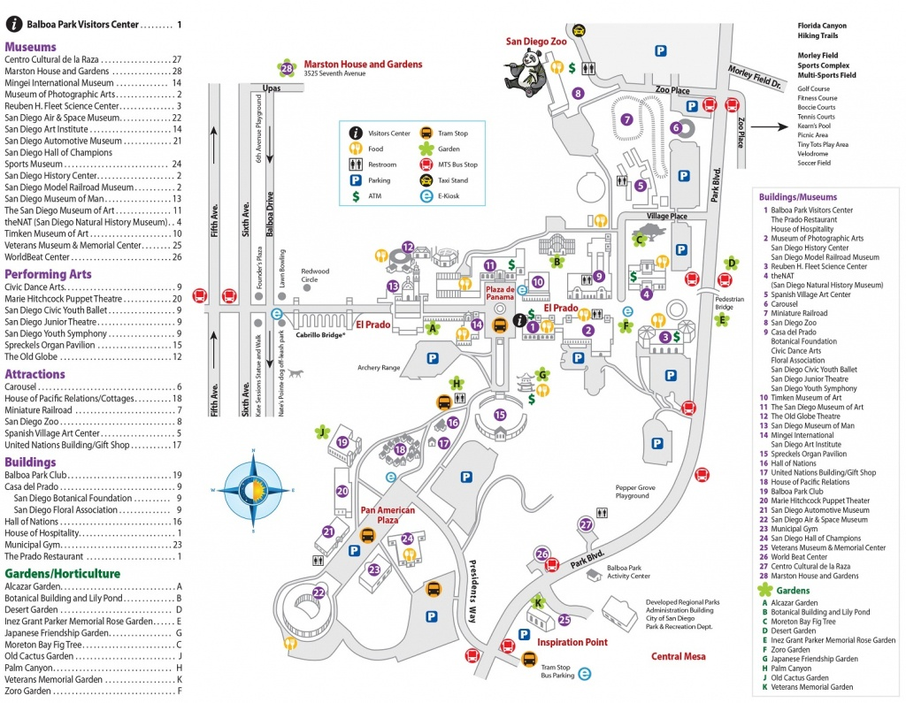 Parking | Balboa Park - Map Of Balboa Park San Diego California