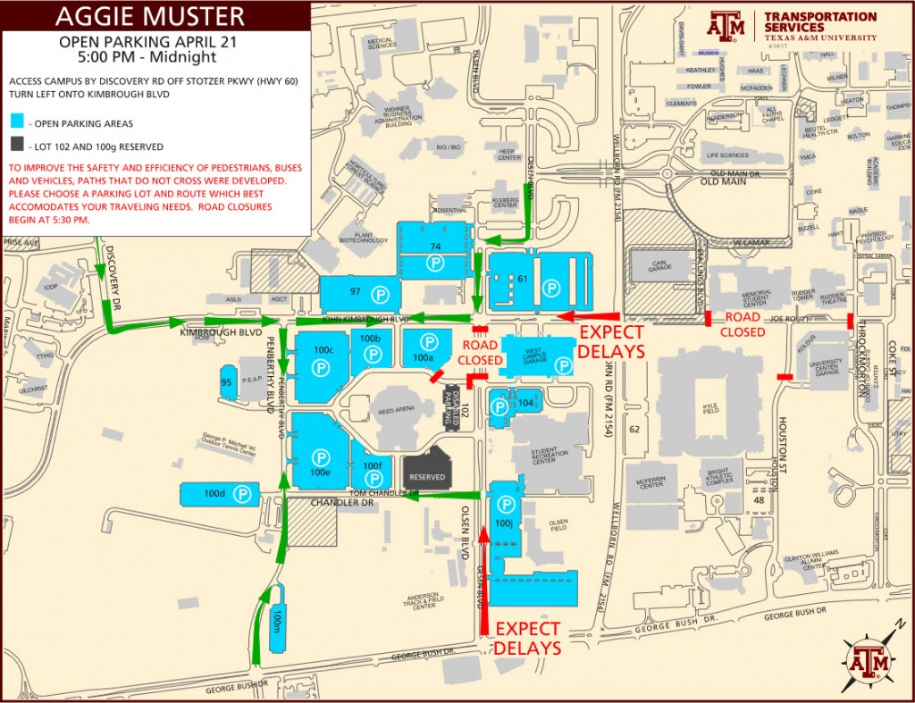 Parking Map Tamu | Dehazelmuis - Texas A&m Parking Lot Map