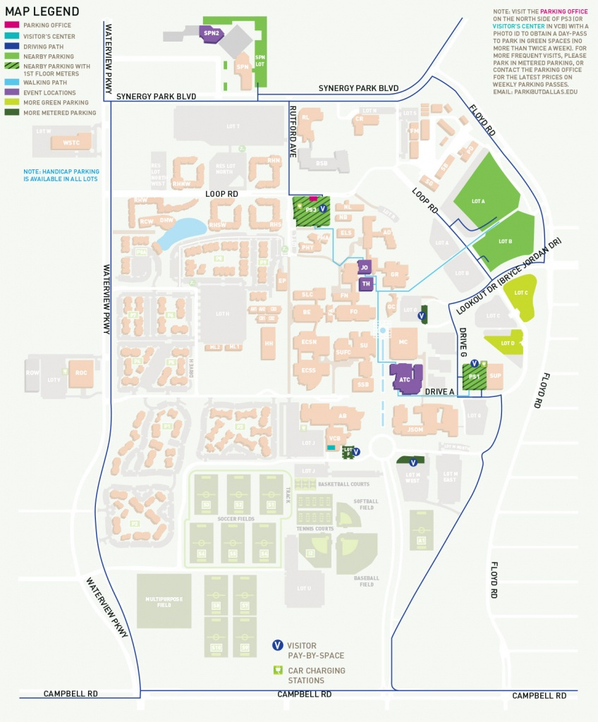 Parking, Maps And Directions To Venues - Events - School Of Arts And - Texas Map Directions